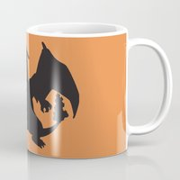 charizard Mugs featuring Charizard Silhouette by Jessica Wray