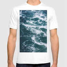 Ocean Marble #texture MEDIUM Mens Fitted Tee White
