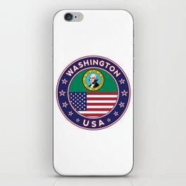 Washington, USA States, Washington t-shirt, Washington sticker, circle iPhone Skin