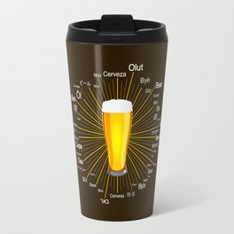 """Beer"" in 45 different languages Travel Mug"