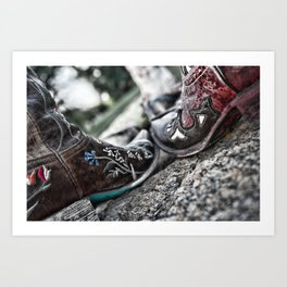 Boot Scoot Art Print