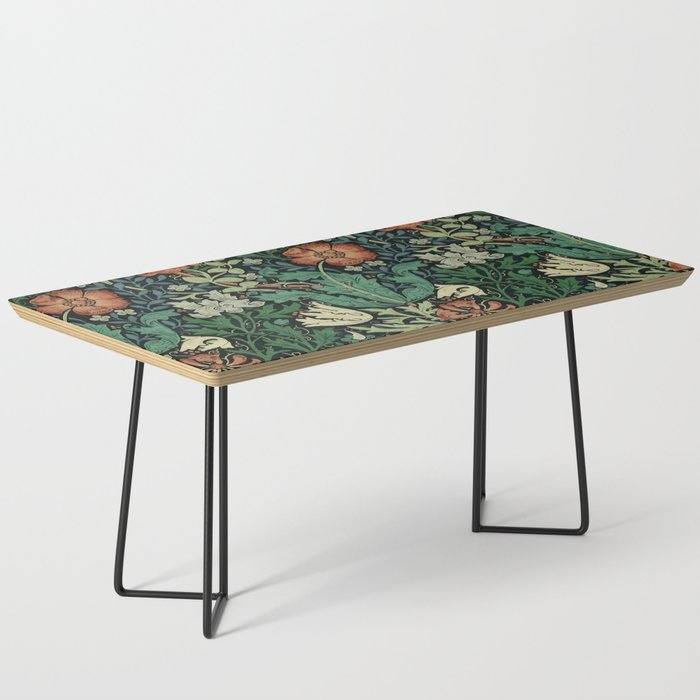 William Morris Compton Floral Art Nouveau Pattern Coffee Table