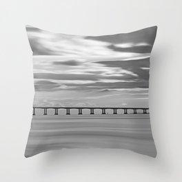 Severn Crossing Sunset Throw Pillow