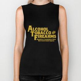 Guns Ammo T Shirts Alcohol Tobacco Firearms Funny 2Nd Amendment Gun T-Shirts Biker Tank