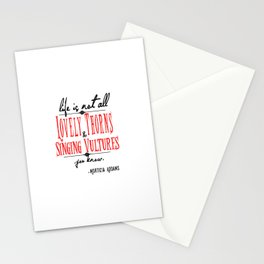 Life according to Morticia Stationery Cards