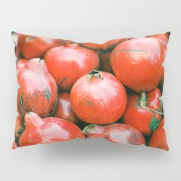 Red pomegranates on a fruit cart in Marrakech Morocco   Colorful travel food photography Pillow Sham