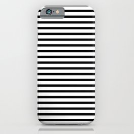 White Black Stripe Minimalist iPhone Case