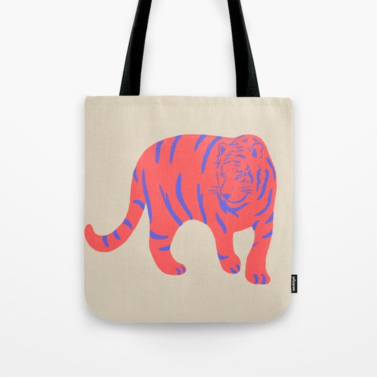 Uzual Tiger, Tiger print, animal print, nursery art Tote Bag