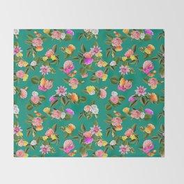 Frida Floral Throw Blanket