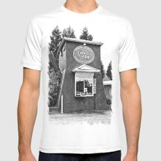 Coffee pot stand White MEDIUM Mens Fitted Tee
