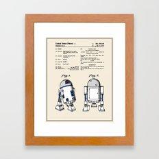 R2D2 Patent - Colour Framed Art Print