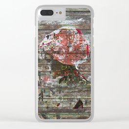 Hidden Nature (Profile of Woman) Clear iPhone Case