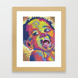 Dotted Baby! Framed Art Print