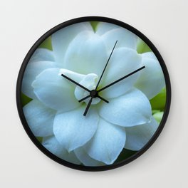 White Kalanchoe Wall Clock