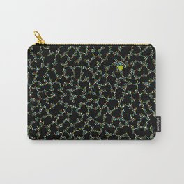 Blue/Green Dots in Black Design Carry-All Pouch