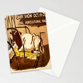 retro Dairy Show retro poster Stationery Cards