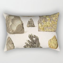Vintage Gold Minerals Rectangular Pillow