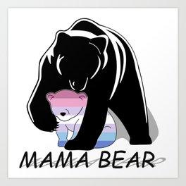 Mama Bear Bigender Art Print