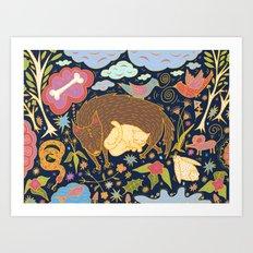 Forest Slumber Art Print