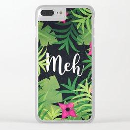 Meh Jungle Print Clear iPhone Case
