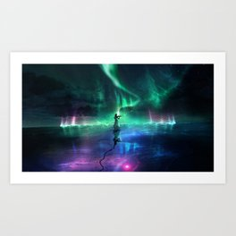 Playing the melody Art Print