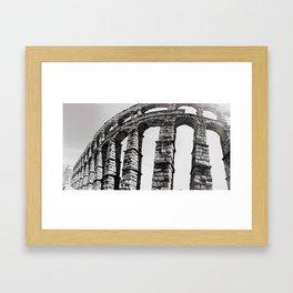 Roman Aqueduct of Segovia Framed Art Print