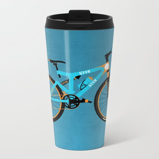 Mountain Bike Metal Travel Mug