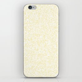 Tiny Spots - White and Blond Yellow iPhone Skin