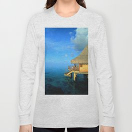 Over-the-Water Island Bungalow Long Sleeve T-shirt