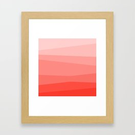Diagonal Living Coral Gradient Framed Art Print