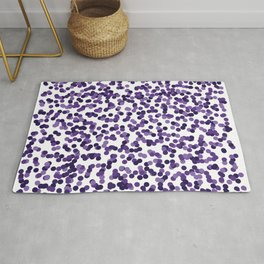 Color Rain Purple Rug