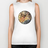 mineral Biker Tanks featuring Mineral planet-3: cacoxene. by Gaspar Garijo