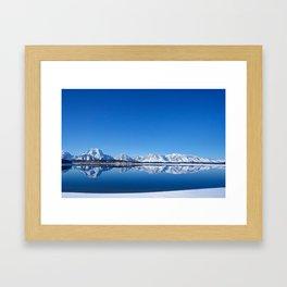 Jackson Lake Reflection Framed Art Print