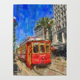 New Orleans Trolley Bus Poster