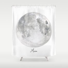 Moon Shower Curtain