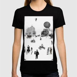 city view from window in 1898 vintage Victorian T-shirt