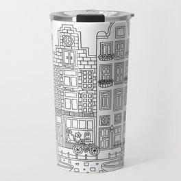 Amsterdam Line Art Travel Mug
