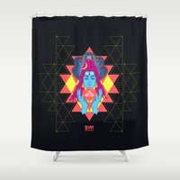 om Shower Curtains featuring Om by RJ Artworks