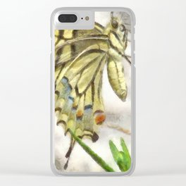 Butterfly Watercolor Clear iPhone Case