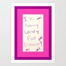 Unbreakable Kimmy Schmidt - Candy for Dinner Art Print