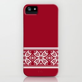 Red Jacquard iPhone Case