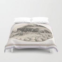 WILDERNESS SHORE VINTAGE CHARCOAL DRAWING Duvet Cover