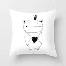 Scandinavian style bat illustration Throw Pillow