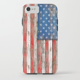 USA Vintage Wood iPhone Case