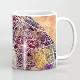 Edinburgh City Scotland Street Map Coffee Mug
