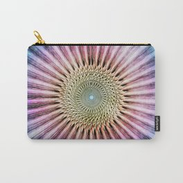 Textured Mandala Tie Dye Carry-All Pouch