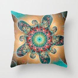 Split Cylinder Swirls Throw Pillow