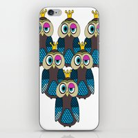 minions iPhone & iPod Skins featuring Owl Minions  by Gabriel J Galvan