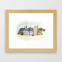Old Town Framed Art Print