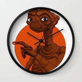 Alien Friend Wall Clock